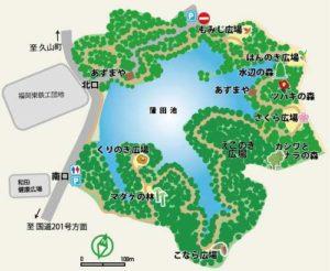 篠栗九大の森地図