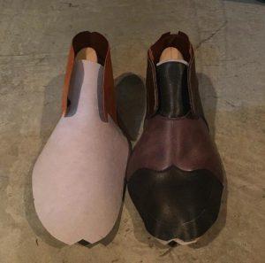 花田優一 靴 製作途中